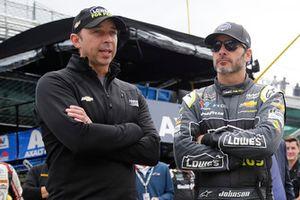 Jimmie Johnson, Hendrick Motorsports, Chevrolet Camaro Lowe's for Pros Chad Knaus