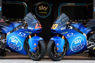 Le Kalex di Francesco Bagnaia e Luca Marini, Sky Racing Team VR46 Moto2, con la livrea speciale