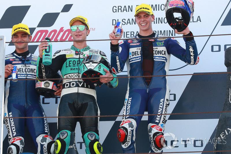 Jorge Martin, Del Conca Gresini Racing Moto3, Lorenzo Dalla Porta, Leopard Racing, Fabio Di Giannantonio, Del Conca Gresini Racing Moto3