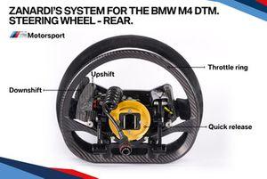 El sistema Zanardi para el BMW M4 DTM, volante parte trasera