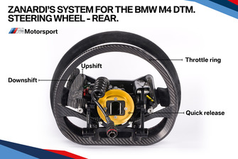 Zanardi's system for the BMW M4 DTM, steering wheel back