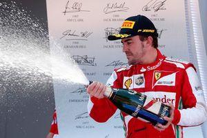 Podio: Fernando Alonso, Ferrari