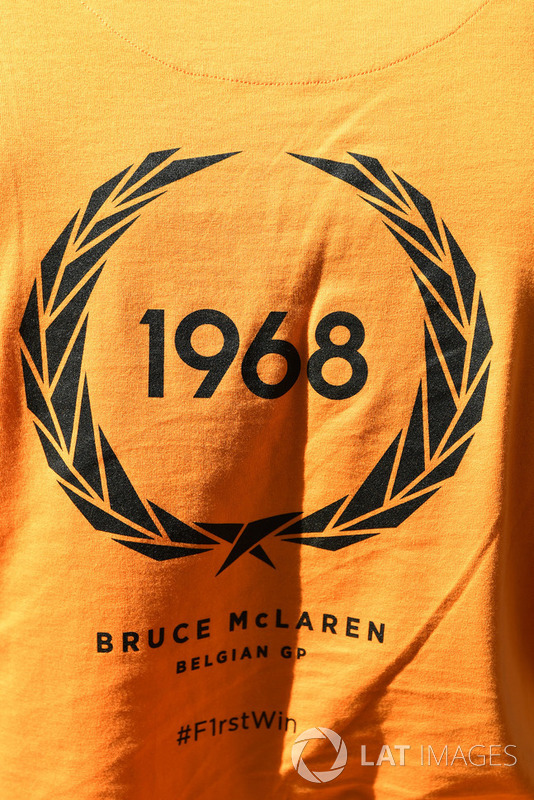 Logo depicting the first win by Bruce McLaren in a McLaren car