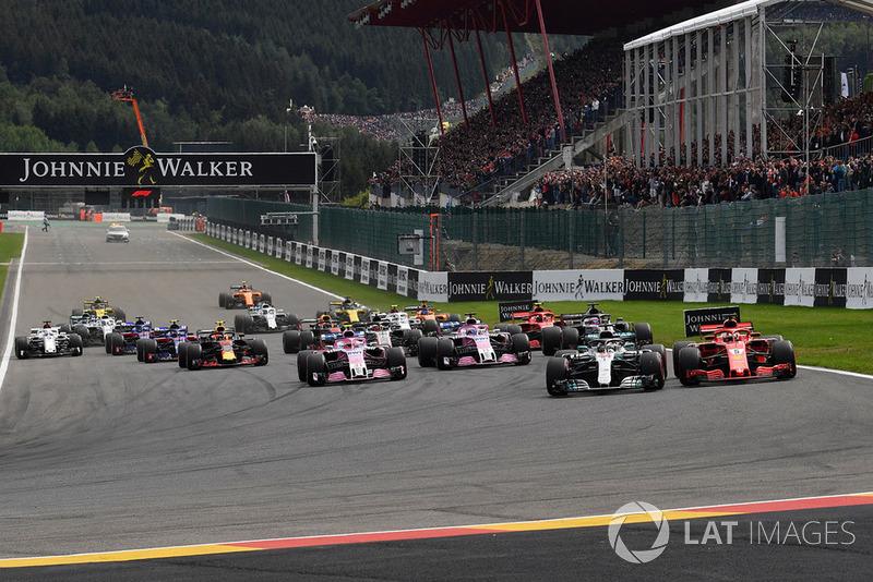 В Гран При Бельгии Себ переиграл Хэмилтона несмотря на поул Льюиса