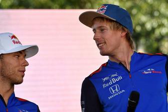 Pierre Gasly, Scuderia Toro Rosso Toro Rosso et Brendon Hartley, Scuderia Toro Rosso