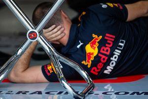 Un miembro del equipo Red Bull Racing