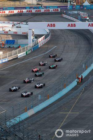 Oliver Rowland, Nissan e.Dams, Nissan IMO2 davanti a tutti alla partenza