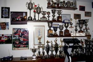 Trophies of Rubens Barrichello