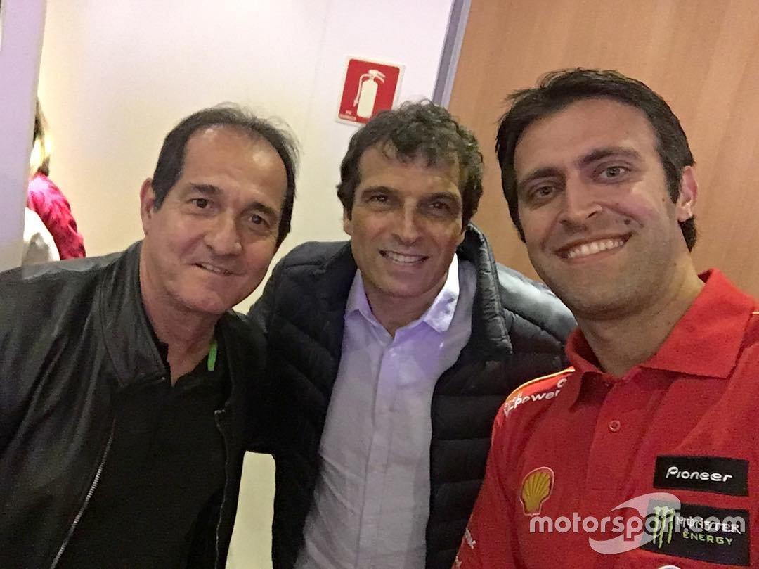 Átila Abreu, Milton Cruz e Muricy Ramalho, ex-técnico e também comentarista de futebol