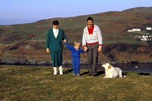 Nigel Mansell con su familia