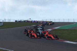 Фрагмент игры F1 2019, гонка в Шанхае