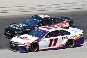 Denny Hamlin, Joe Gibbs Racing, Toyota Camry FedEx Freight, Joey Gase, Petty Ware Racing, Ford Mustang
