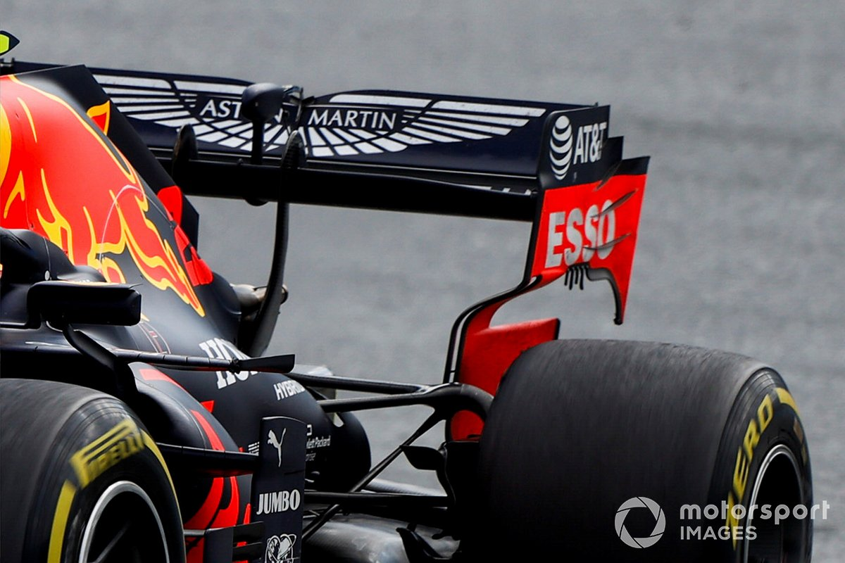 Red Bull RB16 rear wing detail