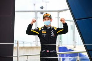 Christian Lundgaard, ART Grand Prix celebrates ont the podium