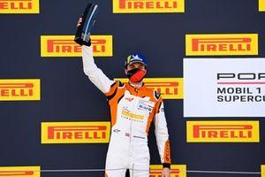 Max van Splunteren, Team GP Elite, on the podium with his trophy
