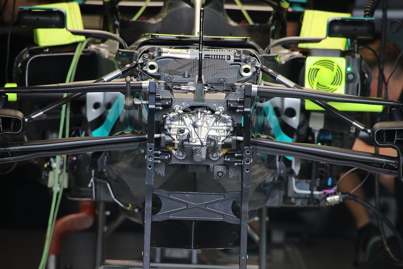 Mercedes F1 W11 front suspension detail