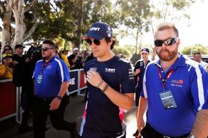 Lance Stroll, Racing Point, arrives at the track