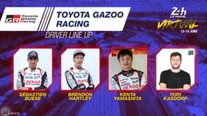 Line-up #8 Toyota Gazoo Racing