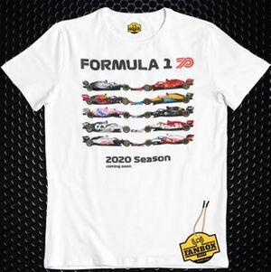 Fanbox, 2020 F1 sezonu tişörtü