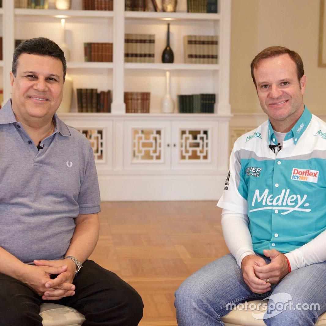 Téo José e Rubens Barrichello