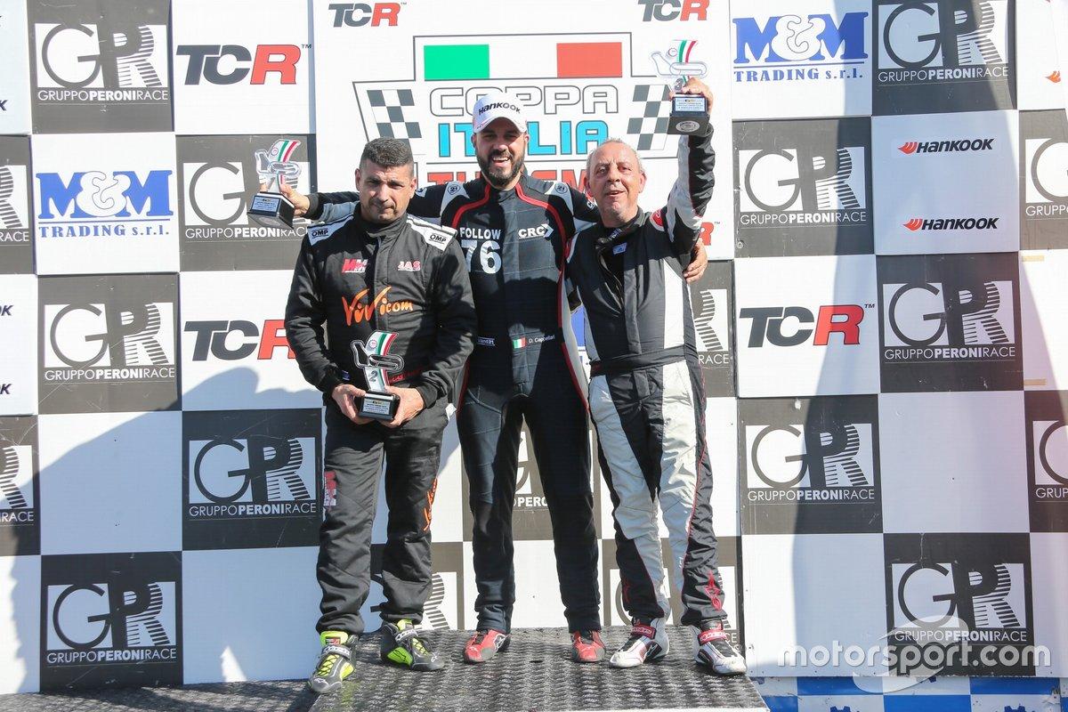 Daniele Cappellari, CRC, Volkswagen Golf GTI TCR, Mauro Guastamacchia, MM Motorsport, Honda Civic Type R TCR
