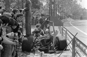 Unfallauto von Graham Hill, Lotus 49B