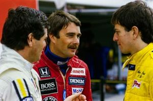 Derek Warwick, Renault, Nigel Mansell, Williams, Martin Brundle, Tyrrell