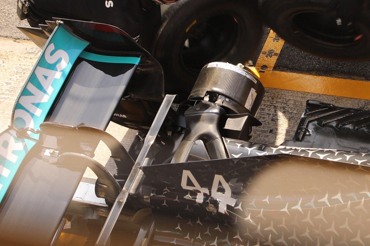 Detalle trasero del Mercedes F1 W11