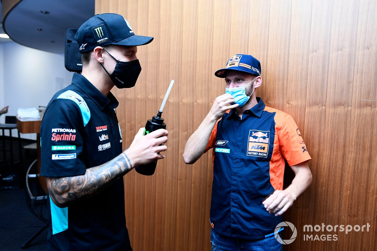 Brad Binder, Red Bull KTM Factory Racing, Fabio Quartararo, Petronas Yamaha SRT