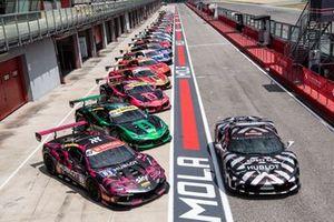 Cars in pit-lane
