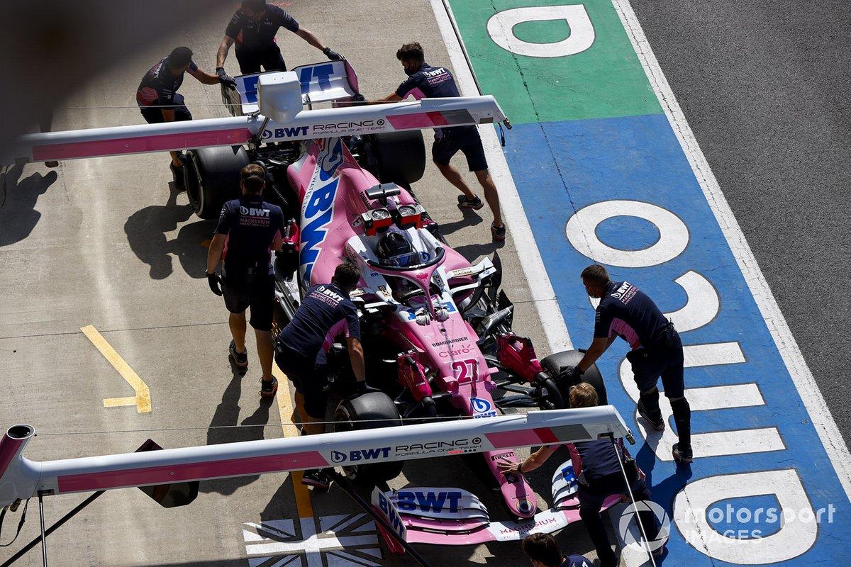 Nico Hulkenberg, Racing Point RP20, torna nel garage