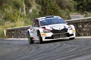 Paolo Menegatti, Michele Ferrara, Skoda Fabia Rally2 Evo