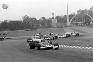 Renn-Action beim GP Argentinien 1973 in Buenos Aires