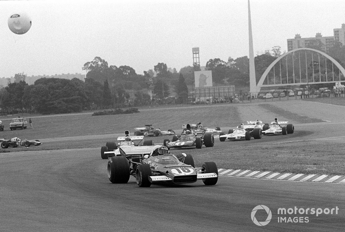 Jacky Ickx Ferrari 312B2, Denny Hulme, Jackie Stewart, Carlos Reutemann y Peter Revson