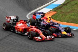 Daniel Ricciardo, Red Bull RB10, Fernando Alonso, Ferrari F14 T