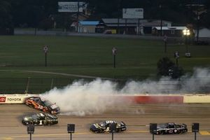 John Hunter Nemechek, Front Row Motorsports, Ford Mustang, crashes