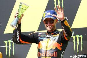 Podium: race winner Brad Binder, Red Bull KTM Factory Racing