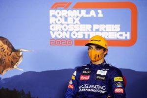 Lando Norris, McLaren, in conferenza stampa