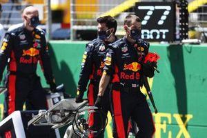 Red Bull Racing team members on the grid