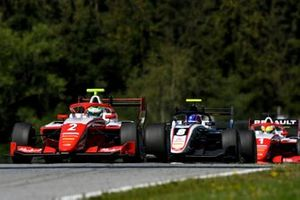 Frederik Vesti, Prema Racing, leads Alexander Smolyar, ART Grand Prix, and Oscar Piastri, Prema Racing