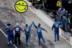 Stewart-Haas Racing team celebrating the victory