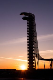 Sonnenuntergang am Circuit of The Americas in Austin