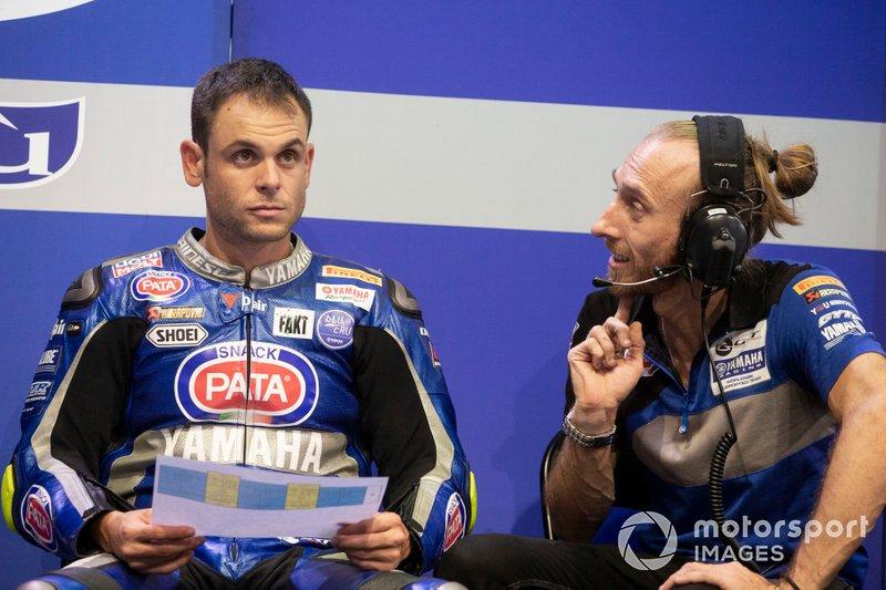 Sandro Cortese, GRT Yamaha WorldSBK, mit Nicola Sartori
