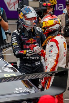 Race winner Shane van Gisbergen, Triple Eight Race Engineering, second place Scott McLaughlin, DJR Team Penske