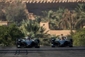 Nyck De Vries, Mercedes Benz EQ, EQ Silver Arrow 01 alongside Stoffel Vandoorne, Mercedes Benz EQ, EQ Silver Arrow 01
