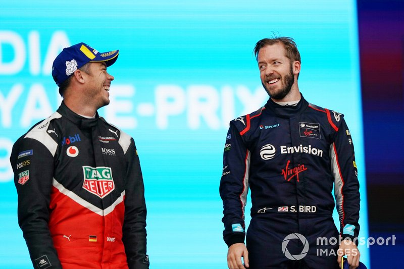 Andre Lotterer, Porsche e Sam Bird, Virgin Racing, sul podio