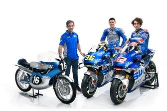 Joan Mir, Alex Rins, Team Suzuki MotoGP and Davide Brivio, Team manager Team Suzuki MotoGP