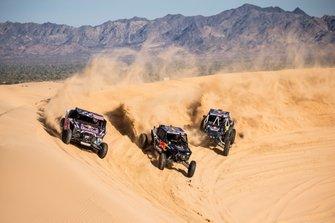 Blade Hildebrand, Mitch Guthrie y Seth Quintero, miembros del equipo Red Bull Junior Off-Road