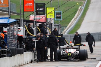 Team Penske testing scenes