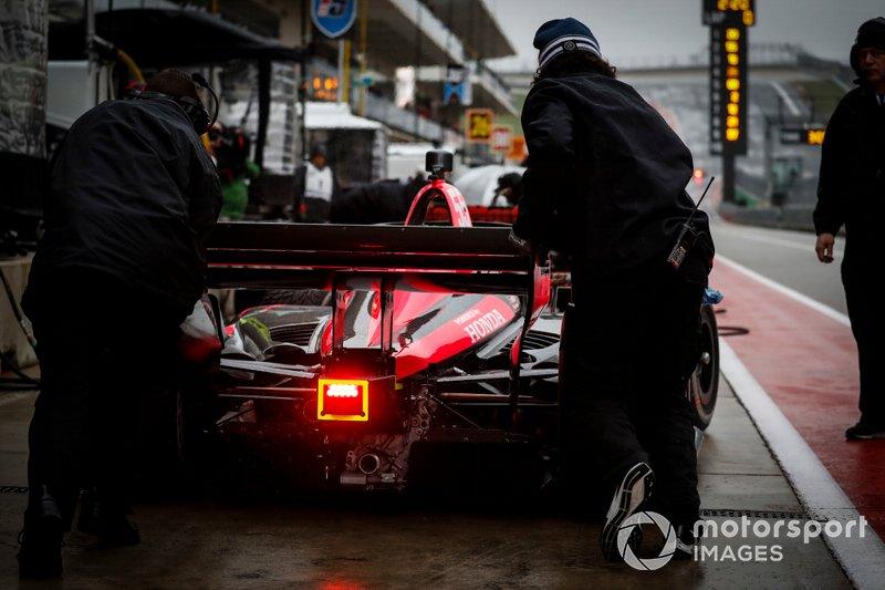 Alex Palou, Dale Coyne Racing with Team Goh Honda, burnout